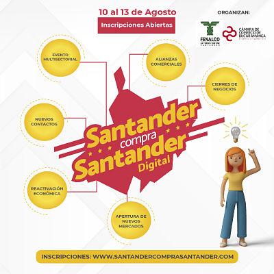 Santander Compra Santander Digital impulsará la reactivación económica del departamento