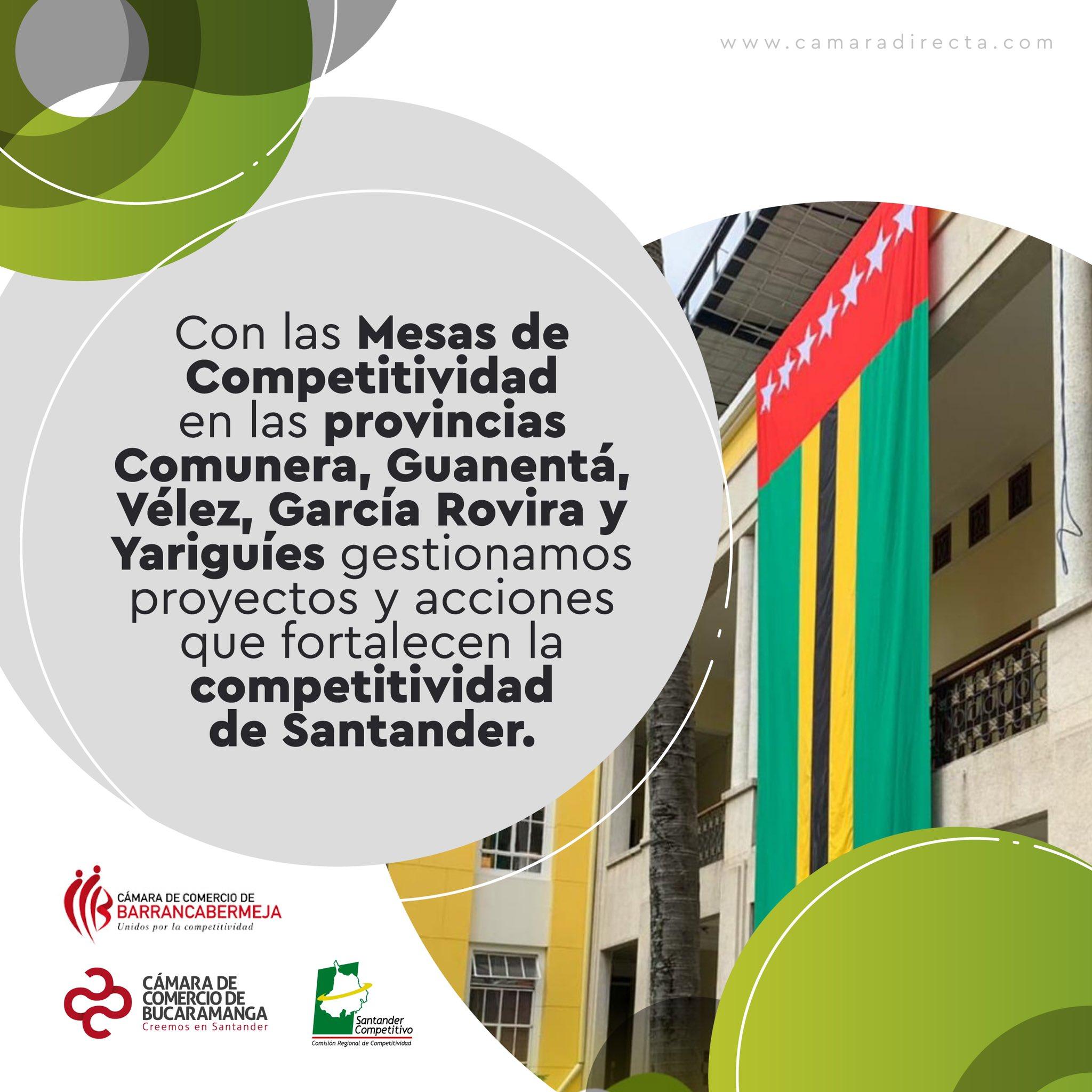 La Cámara de Comercio de Bucaramanga promueve la reactivación de las provincias con Mesas de Competitividad