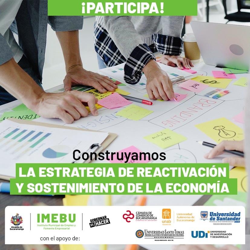 Abierta convocatoria de proyectos que aporten a la reactivación y sostenimiento de la economía de Bucaramanga