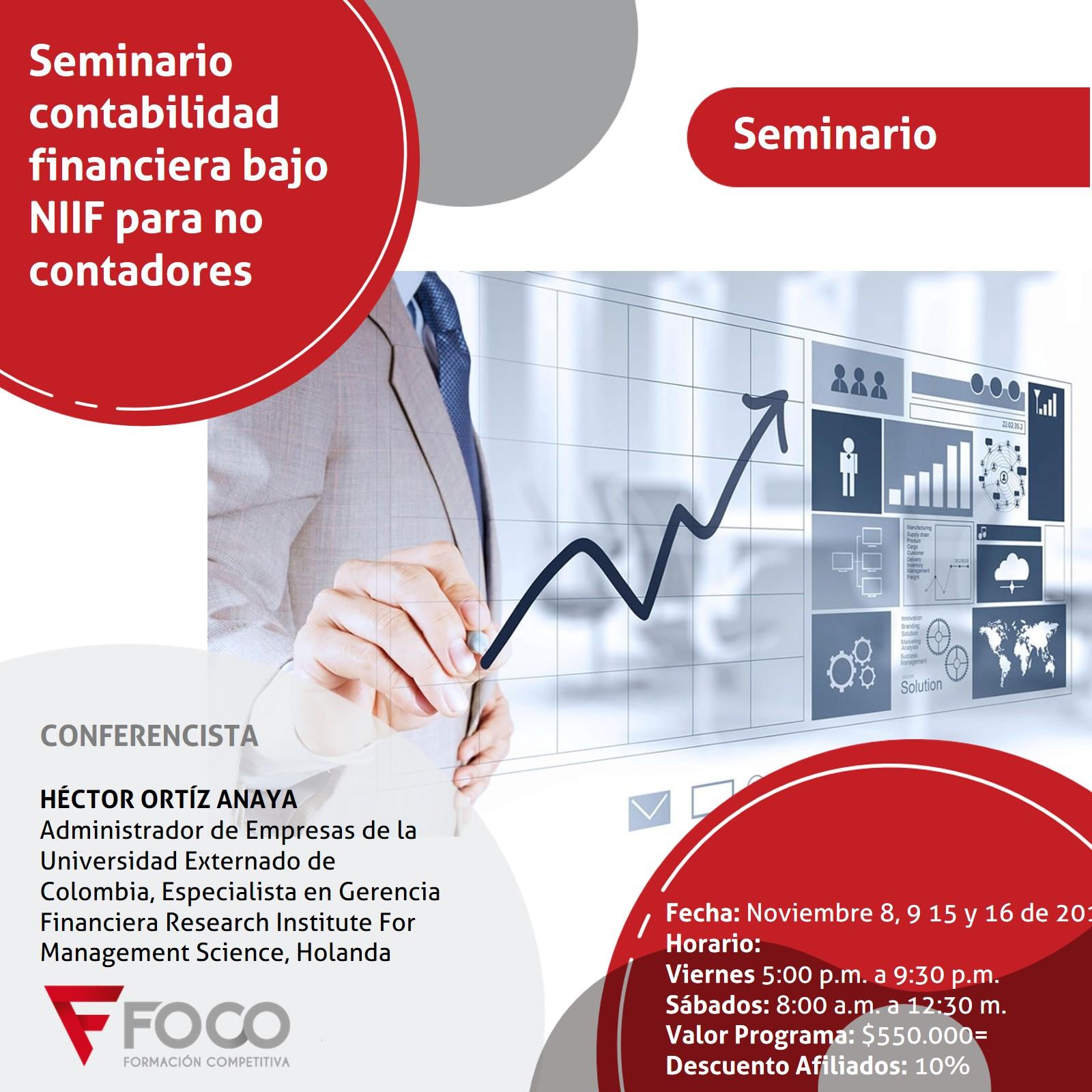 SEMINARIO CONTABILIDAD  FINANCIERA BAJO NIIF PARA NO CONTADORES