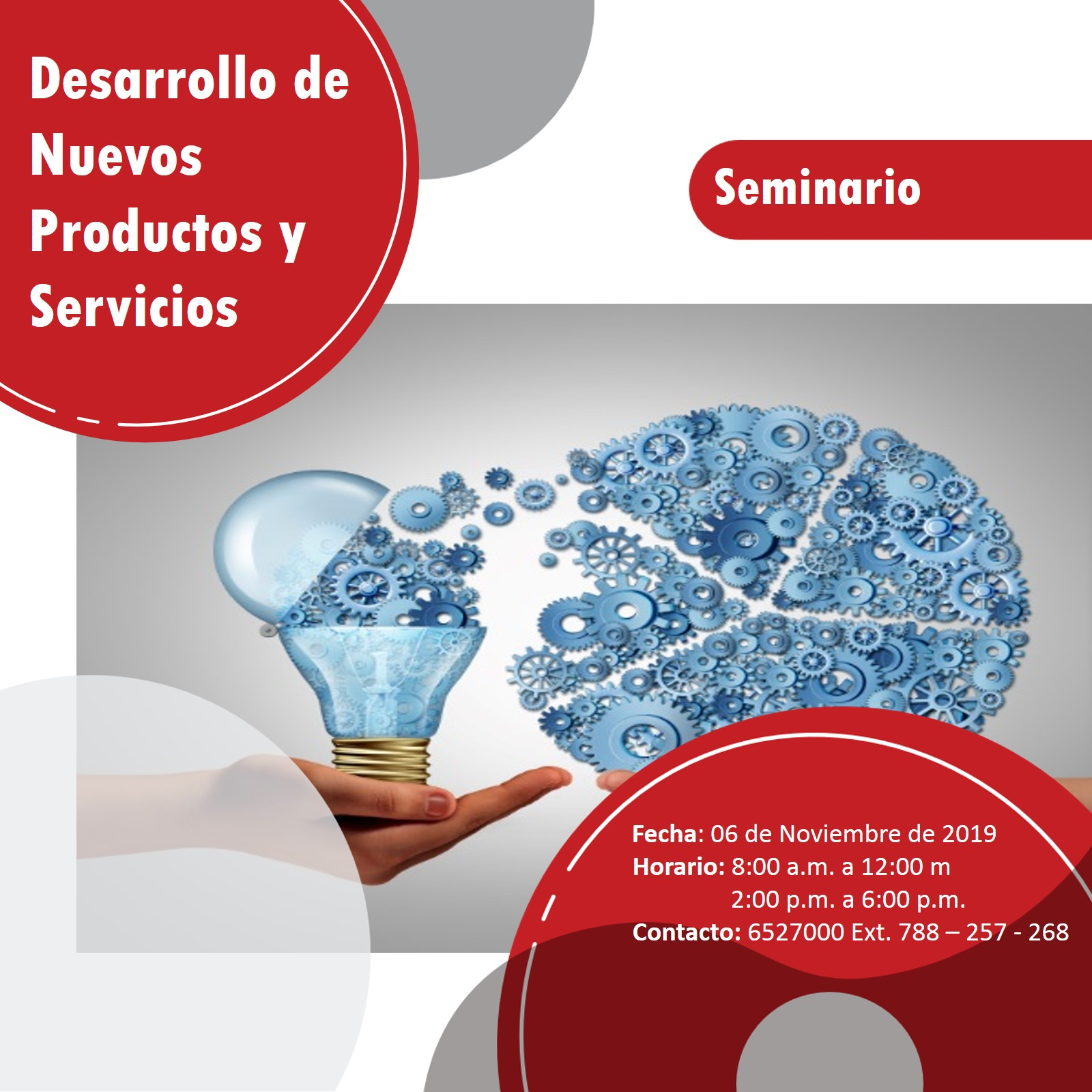 SEMINARIO DESARROLLO DE NUEVOS PRODUCTOS Y SERVICIOS