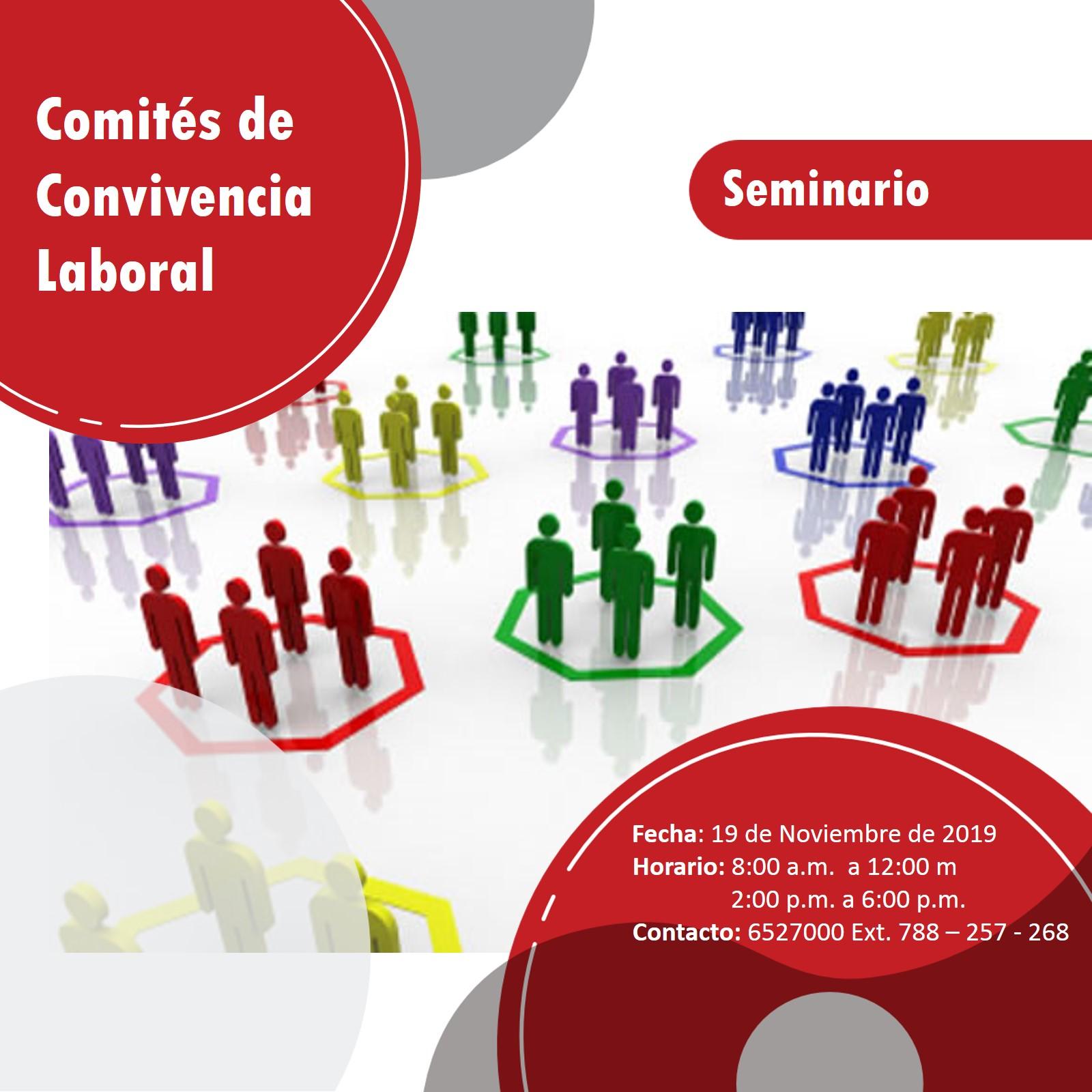 SEMINARIO COMITÉS DE CONVIVENCIA LABORAL